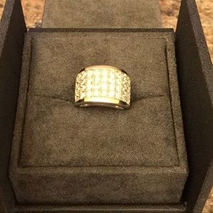 Silpada RARE SS .925 Channel Set CZ Pave Ring Sz 5